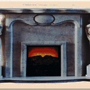 Отделка камина мрамором фото