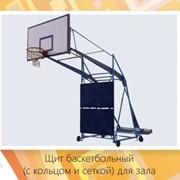 Стойка баскетбольная (с щитом, кольцом и сеткой) для зала фото