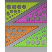 Треугольник с окружностями, цветной, прозрачный 30*, 19 см, (СТАММ) фото