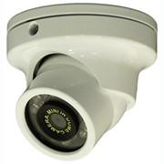 Купольная цветная мини ИК-видеокамера с DNR и Smart-IR фото