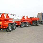 Полуприцеп балковоз 9942B4 для перевозки мостовых балок длиной до 33м