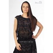 Блуза 4501 Чёрный цвет фото