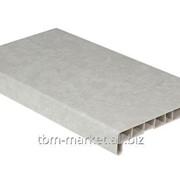 Подоконник пластиковый Витраж 400мм, светлый мрамор матовый Артикул ROS0551.47/6 фото