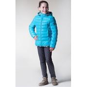 Куртка на искусственном лебяжьем пухе для девочки Сильвия размер 116-134, артикул 0515-29 фото