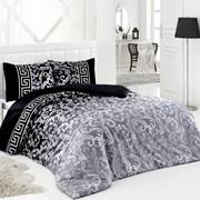 Комплект постельного белья Silvery Серебристо-чёрный, сатин, 100% хлопок, 1,5х фото