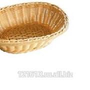 Хлебница плетен.ротанг беж.овал.23,5*15*7см LQ-NEW фото