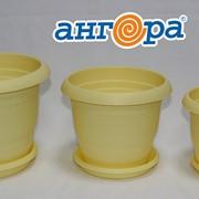 Кашпо ТОПРАК 3л с поддоном желтое *40 (Ангора) фото