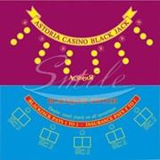 Покрытия для игровых столов, сукно для американской рулетки Сукно одноцветное для блэк-джека фото