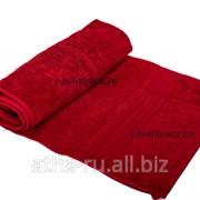 Полотенце махровое гладкокрашенное (Бордо) фото