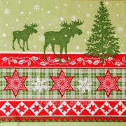 Салфетка для декупажа Новогодние олени фото