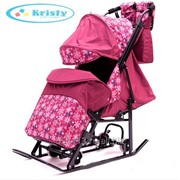 Санки-коляска Kristy Comfort Plus 3В + ВК фото
