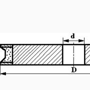 Круги алмазные шлифовальные профильные для обработки кромки стекла на металлической связке формы 1LL6 (фаска 30°) фото