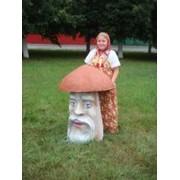 Скульптура Гриб-великан фото