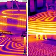 Поиск скрытых труб отопления расположенных в полу (в стяжке) в стене фото