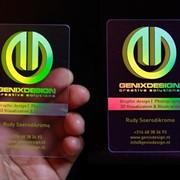 Эксклюзивные прозрачные визитки. фото