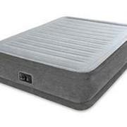 Надувная кровать Comfort-Plush, 152х203х33см, встроенный насос (Intex) фото