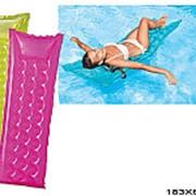 Матрац надувной для плавания релакс однотонный 59718 фото