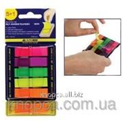 Стикер-закладка Buromax, 45х12, 6х40 шт, пластик фото