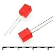 Светодиод FL 5x5 red 30mcd 2.1v фото