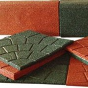 Бордюры и плитка из резиновой крошки фото