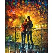 Картина стразами Влюбленные на мосту Л.Афремов - 40х50 см фото