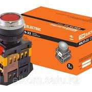 TDM Кнопка ABLFS-22 красный d22мм неон/230В 1з+1р фото