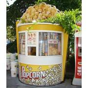 Киоск для торговли, попкорн фото
