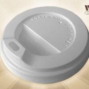 Крышка-поилка на стакан 360 мл коричневая белый