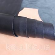 Натуральная кожа для обуви и кожгалантереи черная арт. СК 1012 фото