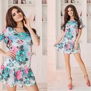 Женское платье с присборкой, в расцветках. ТК-3-0618 фото