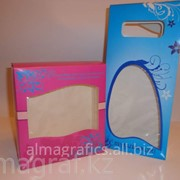 Коробка Алма Графикс с прозрачным окошком