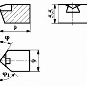 Вставки прямоугольные с режущим элементом из АСПК («Карбонадо») ИС-306 фото