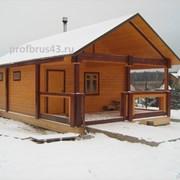 Строим дома, бани из профилированного бруса фото