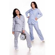 Пижама мужская бязь клетка