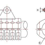 Подвеска для шины выполненной в виде трубы(типа ПШТ3) фото