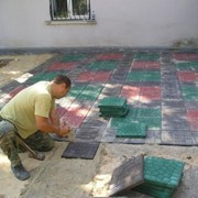 Укладка тротуарной (бетонной) плитки 300х300х30 во всех городах Подмосковья фото