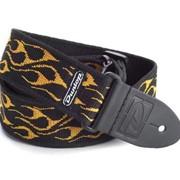 Гитарный ремень Dunlop D3811 OY Flambe Orange Yellow фото