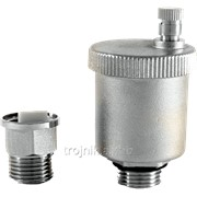 Воздухоотводчик прямой 1/2 дюйм с клапаном никель Evo, арт.13317 фото