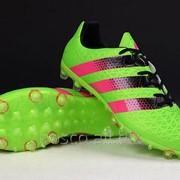 Футбольные бутсы adidas ACE II 15.1 FG Solar Green/Shock Pink/Core Black фото