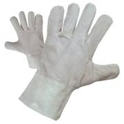 Рукавицы кожаные спилковые с усиленными защитныминакладками фото