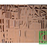 Стекло узорчатое Абстракт бронзовое фото