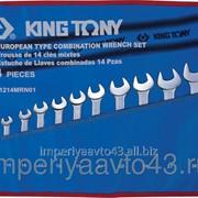 Набор комбинированных ключей, 10-32 мм, чехол из теторона, 14 предметов KING TONY 1214MRN01 фото