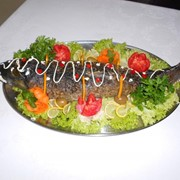 Рыба фаршированная в ресторане Bachus Dava фото