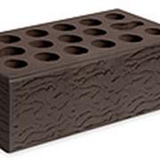 Кирпич керамический облицовочный (лицевой) пустотелый Шоколад Риф 1,4 NF фото