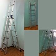 Лестница приставная 17 ступеней фото