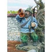 Скульптура Охотник С Горном фото
