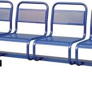 Секция стульев металлическая с перфорацией фото