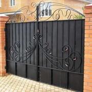 Ворота металические фото