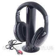 Беспроводные наушники 5 в 1 + FM радио Wireless 000260 фото
