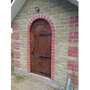 Дверь брашированная под старину фото